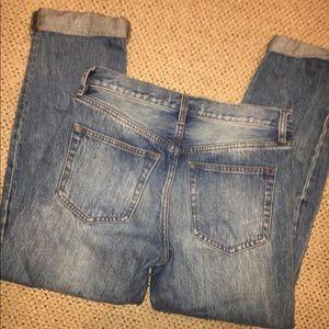 Free People Boyfriend Cropped Jeans